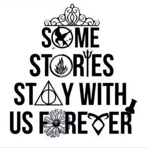 The Selection, Divergent, Percy Jackson, Harry Potter, Looking For Alaska, The Mortal Instruments and Paper Towns