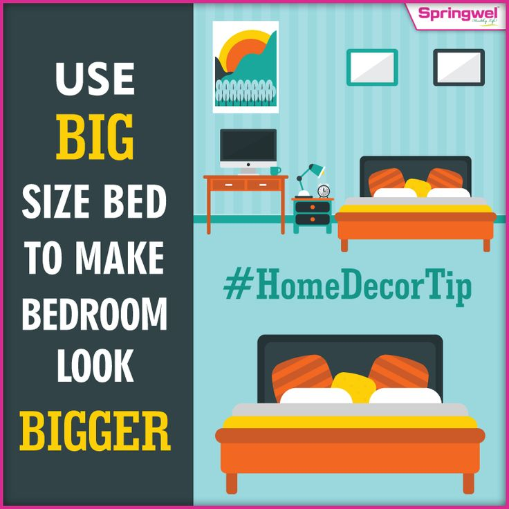 #Springwel‬ #HomeDecorTip‬    Sometimes a small bedroom can feel like a cave. Follow our today's smart tip to turn your bedroom into a comfy bedroom for friends & family.