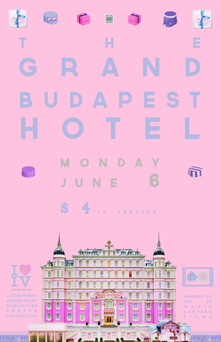 the grand budapest hotel movie poster, april 2014