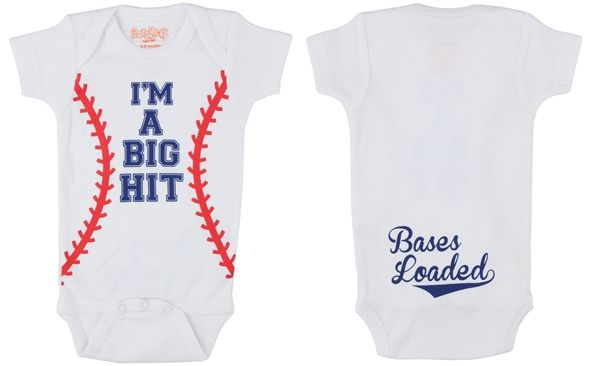 Sara Kety I'm a Big Hit Baseball Onesie