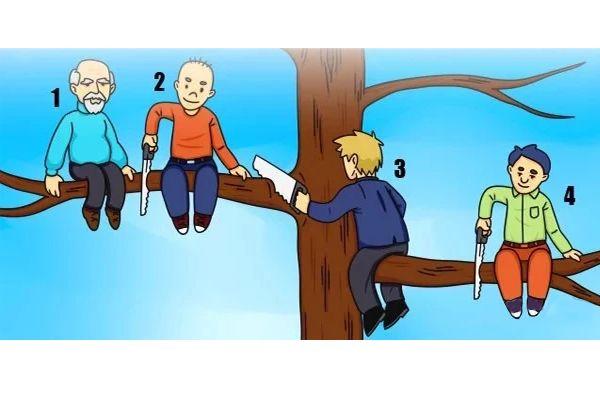 A legfőbb személyiségjegyeidet buktatja le az a figura, amelyiket a legbolondabbnak választod.Ebben a személyiségtesztben csak annyi a dolgod, hogy alaposan nézd meg a fenti képet, amelyen négy srác felmászott egy magas fára, hogy ott játsszon. Képzeld el, hogy melyikük lehetnél ...