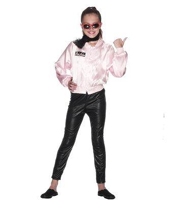 Grease Pink Lady jasje voor meisjes in de kleur roze. Op de achterkant staat Pink Lady gedrukt. Carnavalskleding 2015 #carnaval