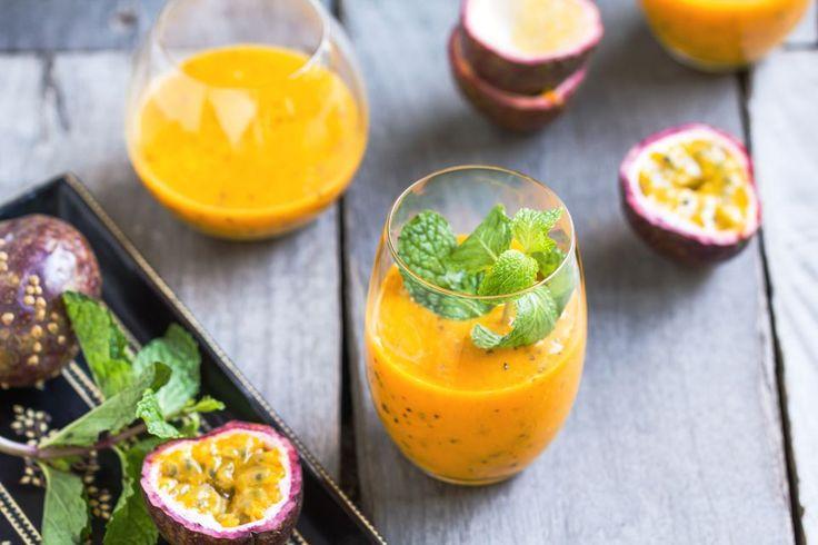 Batida Cocktail - Popular Brazilian Cachaca Drink - Passionfruit smoothie