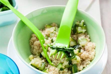 Opperdepop: quinoa met spinazie en courgette 6-12 mnd