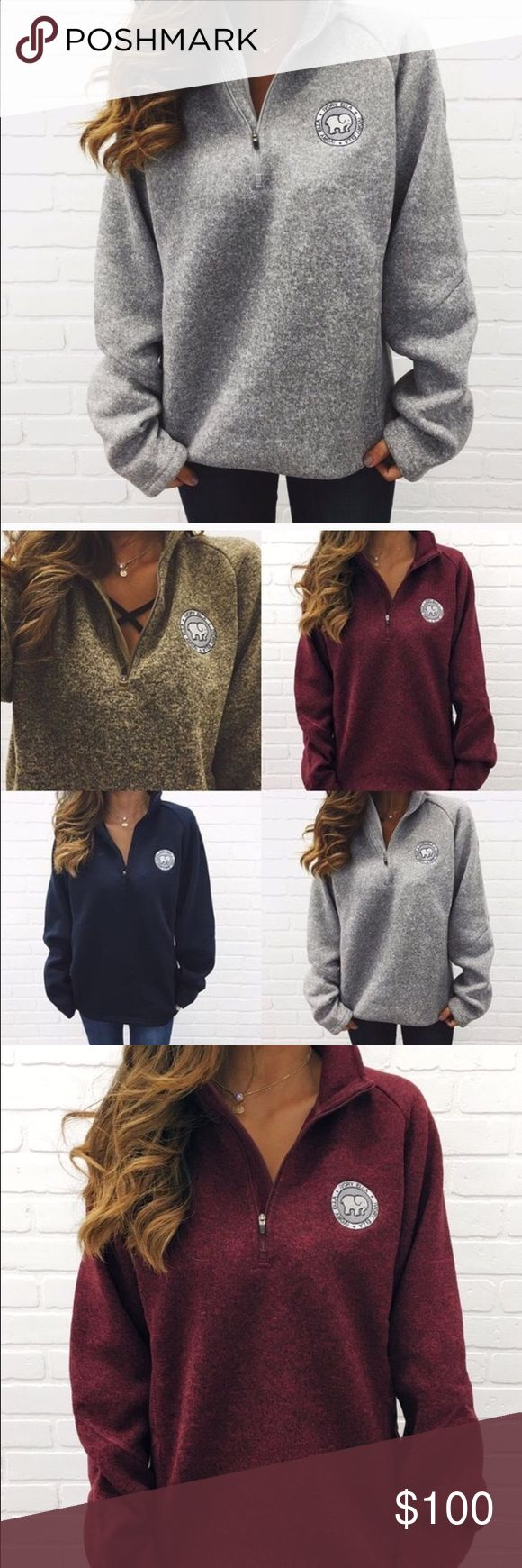 Iso Heathered Fleece Quarter Zip Looking for any of these colors in either a large or a medium. Really wanting to buy off merc. Maroon, grey, green, dark blue. Ivory Ella Sweaters Cowl & Turtlenecks