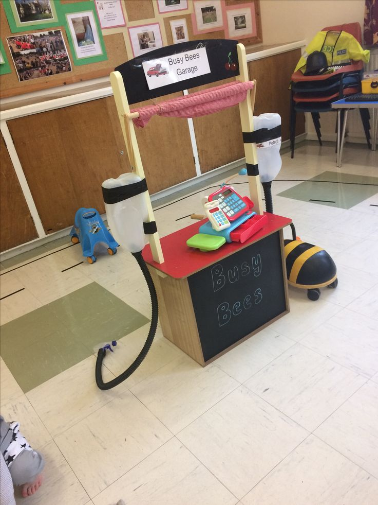 preschool petrol station role play imaginative play
