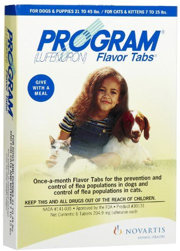 Program Flea Control is a non-prescription monthly oral flea preventative for dogs. Program controls flea infestations by preventing adult fleas from reproducing effectively breaking the life cycle...