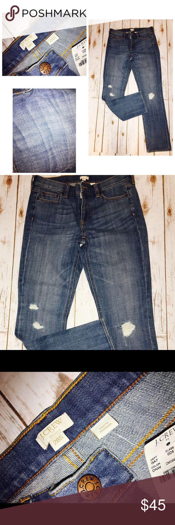 👖NWT J Crew Stretch Distressed Jeans Sz 28 Short J Crew Stretch Jeans Sz 28 Short...Distressed and NWT...great Jeans...wish they fit! J. Crew Jeans