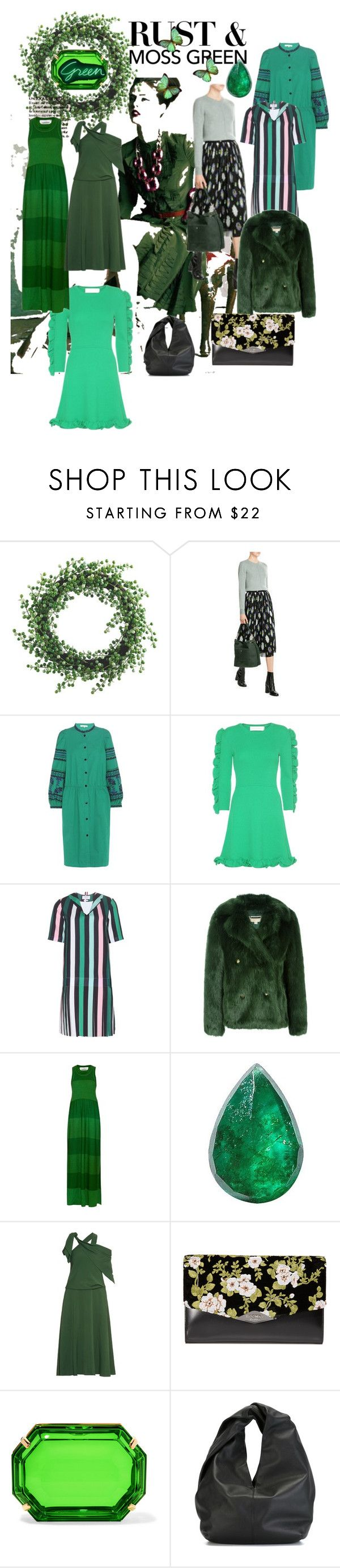 """""""Rust & Moss Green."""" by lalu-papa ❤ liked on Polyvore featuring rag & bone, Vanessa Bruno, Victoria, Victoria Beckham, Thom Browne, MICHAEL Michael Kors, Sonia Rykiel, Loquet, Rosie Assoulin, Rochas and Charlotte Olympia"""
