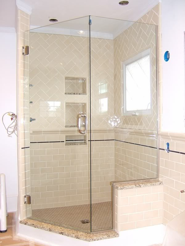 Chair Rail And Frameless Shower Door Bathrooms Forum Gardenweb For The Home Pinterest
