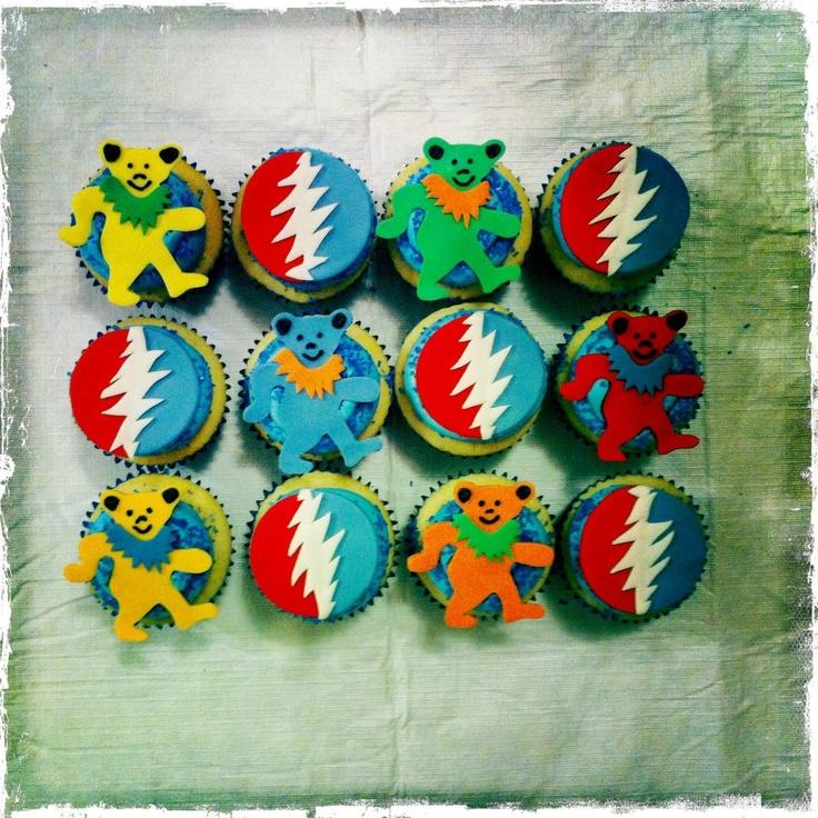 Grateful Dead Cupcakes