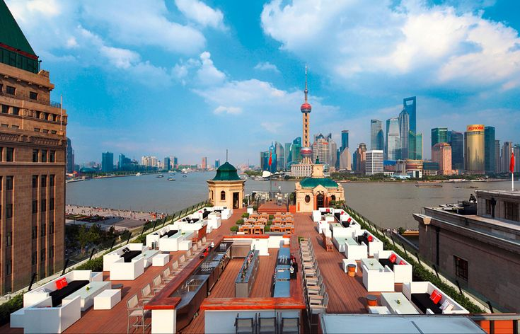 Hotel terrace. The Swatch Art Peace Hotel, Shanghai. © The Swatch Group Ltd