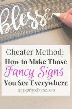 DIY How to do hand lettered signs