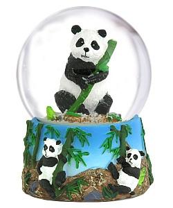panda snowglobe... over the top.