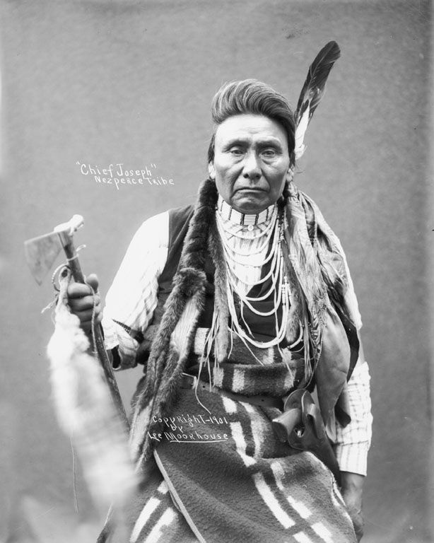 Chief Joseph of Nez Perce this is the chife said i will fight no more foever our dear goverment took them off thir land after a treater and chas them  started and froem oh yes our dear uncle: American Indians, Nose Piercing, Native Americans, Nezperce, 1901, Photo, People