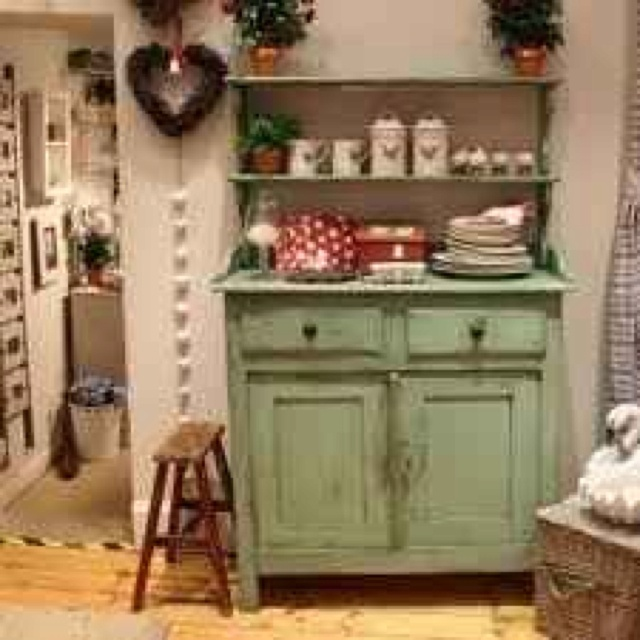 Sea green welsh dresser