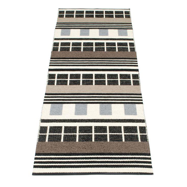 James Rug 70x240, Black, Pappelina #design #royaldesign #decor #interiordesign #inredning #inspiration #pappelina #scandinaviandesign