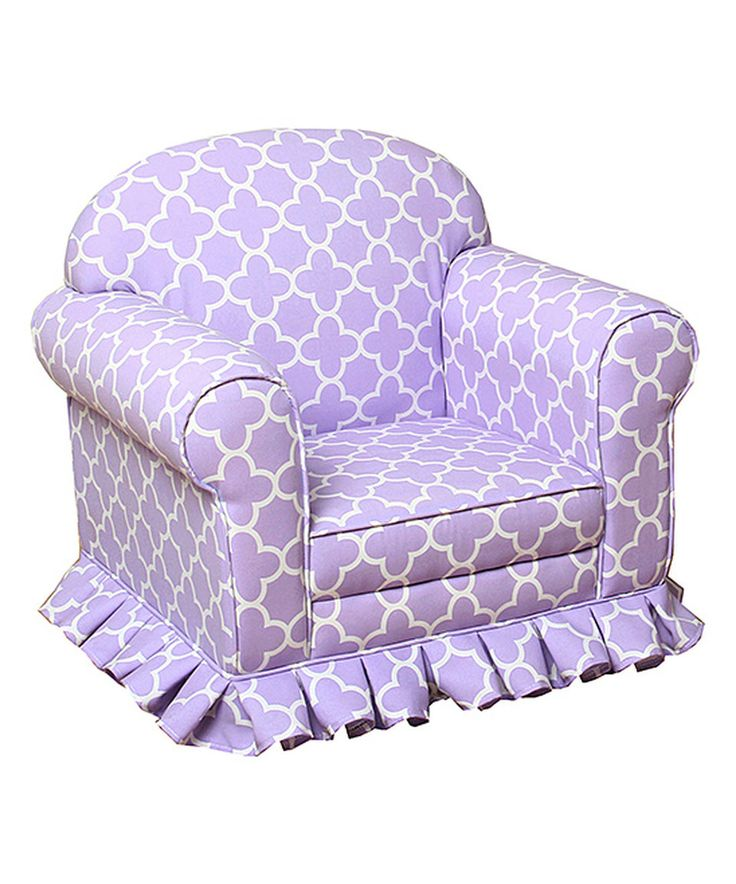 Another great find on #zulily! Lavender Lattice Juvenile Skirted Chair by HomePop  #zulilyfinds