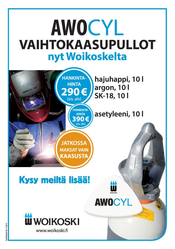 Tuotemainos/esittely myyntitiskien käyttöön (A4, Woikoski, 2014)