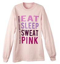 Avon Walk 2013 Adult Pink Long Sleeve Tee
