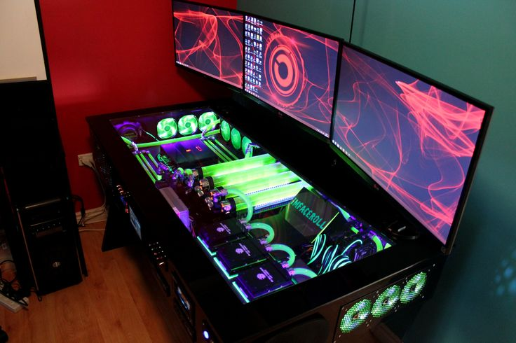 My computer rig tower pc gaming setup liquid cooled www.facebook.com/imfacerollgaming www.youtube.com/user/imfacerollpcgaming