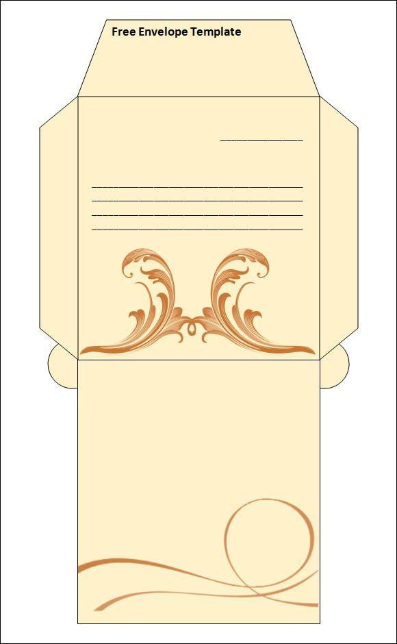 word envelope template invites pinterest envelope templates