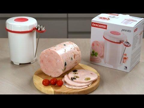 Ветчина из курицы и свинины в ветчиннице Tescoma - ХЛЕБОПЕЧКА.РУ - рецепты, отзывы, инструкции