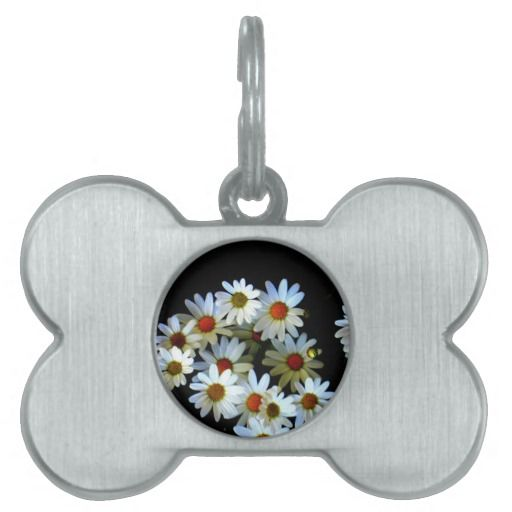 Blossoming darkness pet ID tag