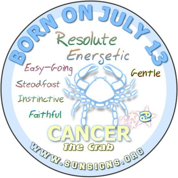 July 13 Birthday Horoscope Personality » Sun Signs