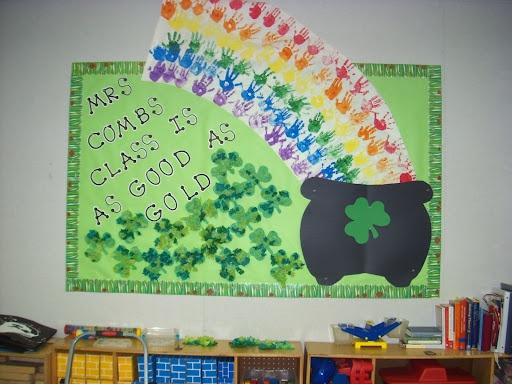 St Patrick's Day bulletin board
