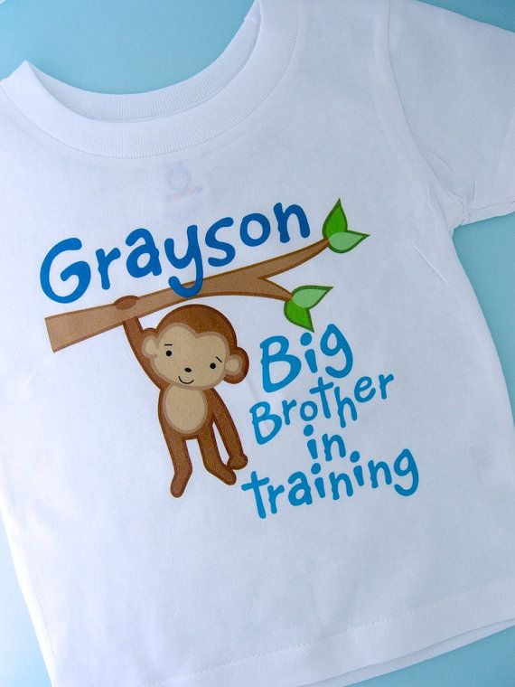 Big Brother Shirt Big Brother In Training by ThingsVerySpecial, $13.99
