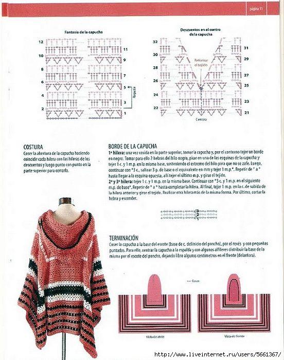 Delicadezas en crochet Gabriela: Ponchos paso a paso