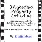 3 different Algebraic Properties bundled together in one BIG package!  The first activity is perfect for an interactive notebook, or a tiered act...