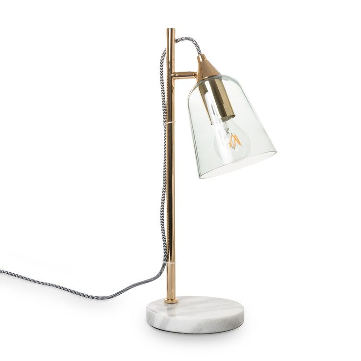 Buy the Glass Shade Marble Table Lamp at Oliver Bonas. Enjoy free UK standard delivery for orders over £50.