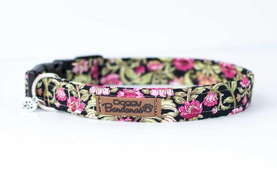 Fleur collier de chien Floral Provence chien tissu par DoggyBanda