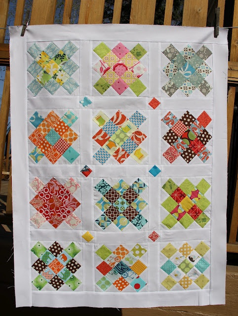 granny square quilt top by #cityhousestudio