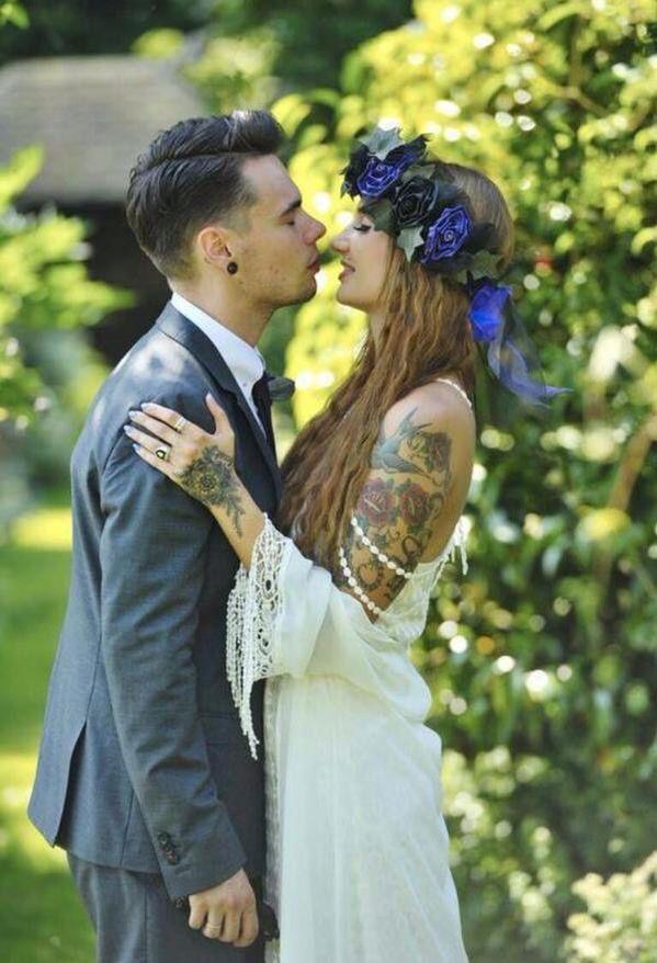 Tattood couple.