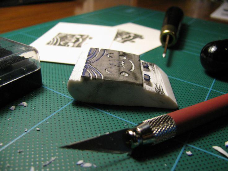 DIY stamp - happy face -