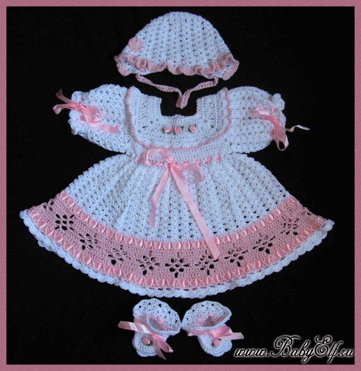 Вязание платье для новорожденных - aquarel-studio.ru
