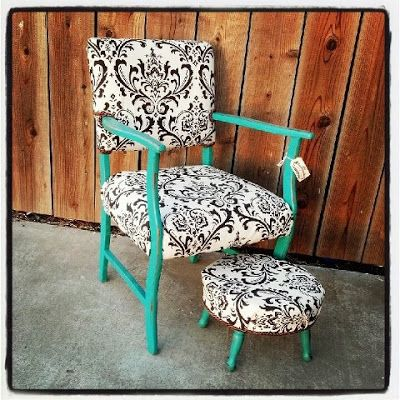 The Vintage Barn: Transformation Tuesday...Another FUN Yard Sale Chair Redo!