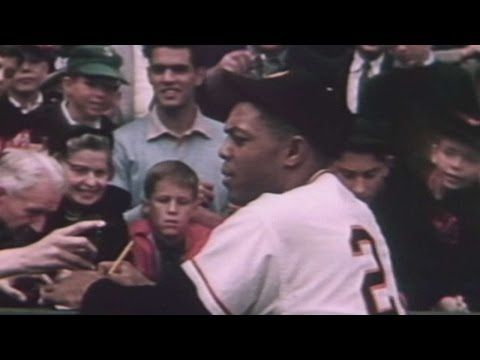 Scenes from final Giants game at Polo Grounds in 1957 - YouTube