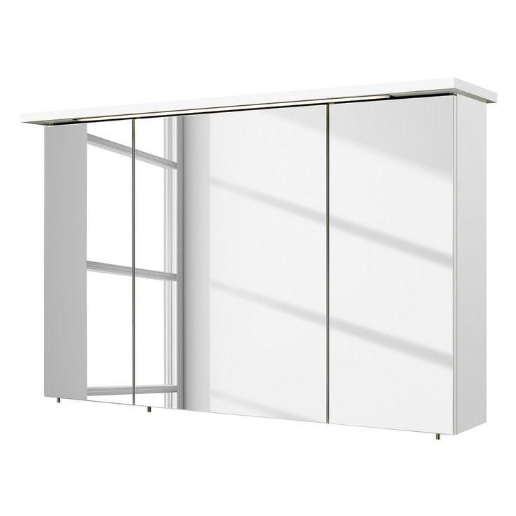 Eek A Spiegelschrank Cesa Inkl Beleuchtung Weiss 115 Cm