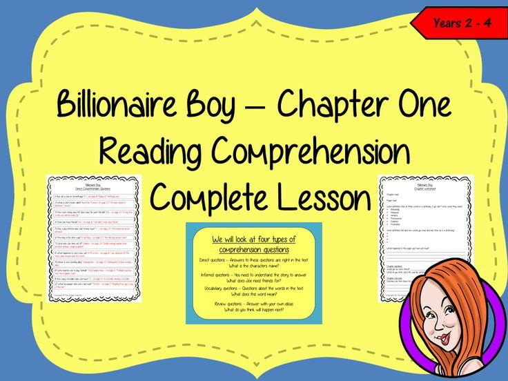 Reading Comprehension Complete Lesson  – Billionaire Boy