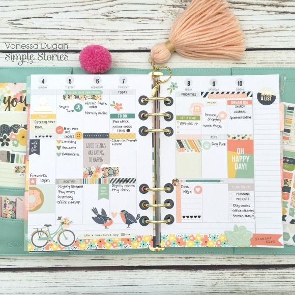 Posh Carpe Diem Planner by design team member Vanessa Dugan