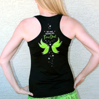Tinkerbell marathon tank - sweat wicking performance fabric!
