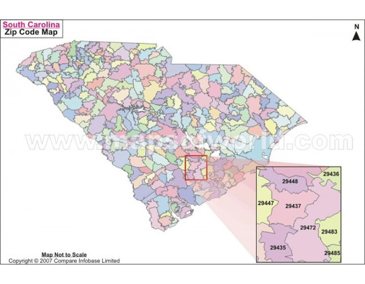Buy South Carolina Zip Code Map US Maps Zip code map