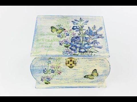 Decoupage wooden box - Fast & Easy Tutorial - DIY - YouTube