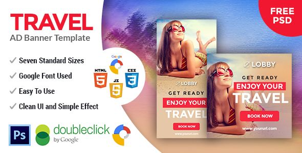 Lobby   Travel HTML 5 Google Banner - CodeCanyon Item for Sale