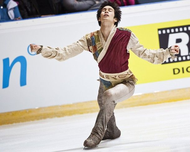 Japan's Kento Nakamura performs during the men's short program of the figure skating Finlandia Trophy event in Espoo, Finland on October 5, ...