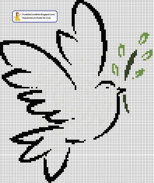 peace dove cross stitch